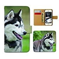 Xperia 1 III xperia1m3 ケース 手帳型 犬写真 手帳ケース スマホケース カバー 犬 いぬ ペット シベリアンハスキー E0291040117702