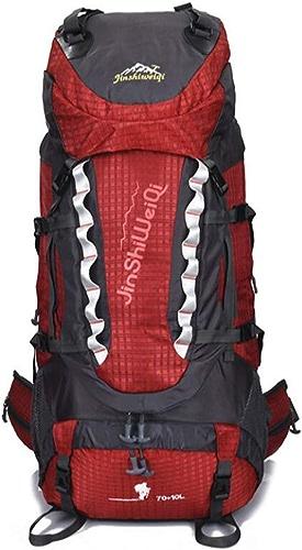 LXYIUN 80L,Randonnée Trekkinggrande Capacité Hommes Et Femmes Extérieur La Montée Voyage Backpack,rouge