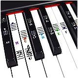 Piano y Keyboard Notas Musicales Duran Set Etiqueta para blancas y negras teclas con piano Canciones...