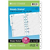 """Day-Timer 2020 Weekly Planner Refill, 5-1/2' x 8-1/2"""", Desk Size 4, Two Pages Per Week, Loose Leaf, Simply..."""