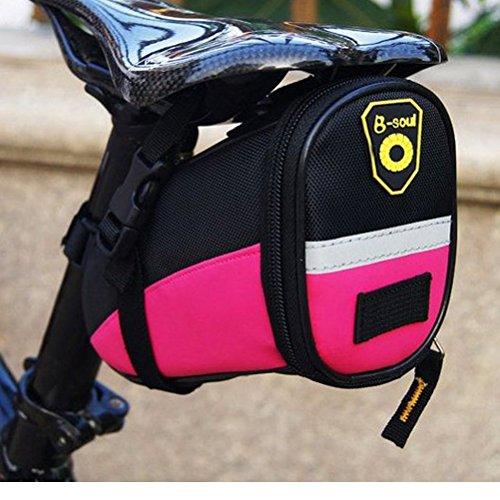 sponeed Fahrrad-Sitztasche für Fahrradsattel, 6 Farben, Unisex, Rose