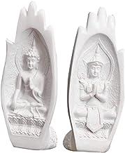 #N/A Buddha Statue Sculpture Ganesha Handmade Figurine for Home Decor - White, as described