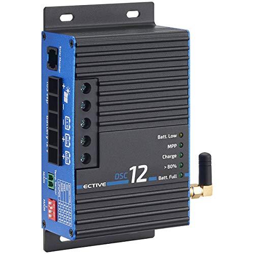 ECTIVE 12A 165Wp MPPT Solar-Laderegler Dual DSC 12 BT für zwei 12V Batterien mit Bluetooth-Funktion und APP in 4 Varianten