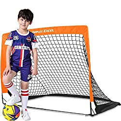 GREAT FOR YOUR KIDS BACKYARD SKILLS PRACTICE: This football goal is very easy to pop up and fold up even for a 5-year old kid (Please check our online video in which there is a 5-year old boy able to do the whole thing easily). It is certainly a grea...