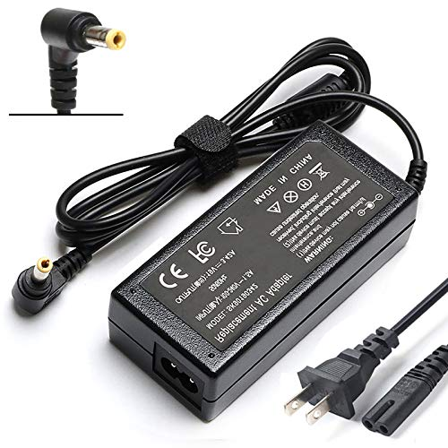 65W AC Adapter Laptop Charger for Toshiba Satellite C55 C55D C55T C655 C675 C850 C855 C855D C875 L645 L645D L655 L655D L675 L675D L745 L755 L855 L875 L875D P745 P755 P855 P875 S855 Power Supply Cord