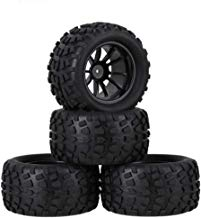 Boliduo 4PCS 130mm RC Truck Tires and Wheel Rims with Foam Inserts for 1/10 Monster Truck HSP HPI Traxxas Himoto Redcat Kyosho