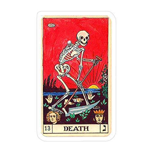 Cozac-3pcs-Death-Tarot-Card-Sticker for Laptop, Phone, Cars, Decal Vinyl Funny Stickers for Computers, Bumpers, Hydro Flasks, Water Bottles, Case