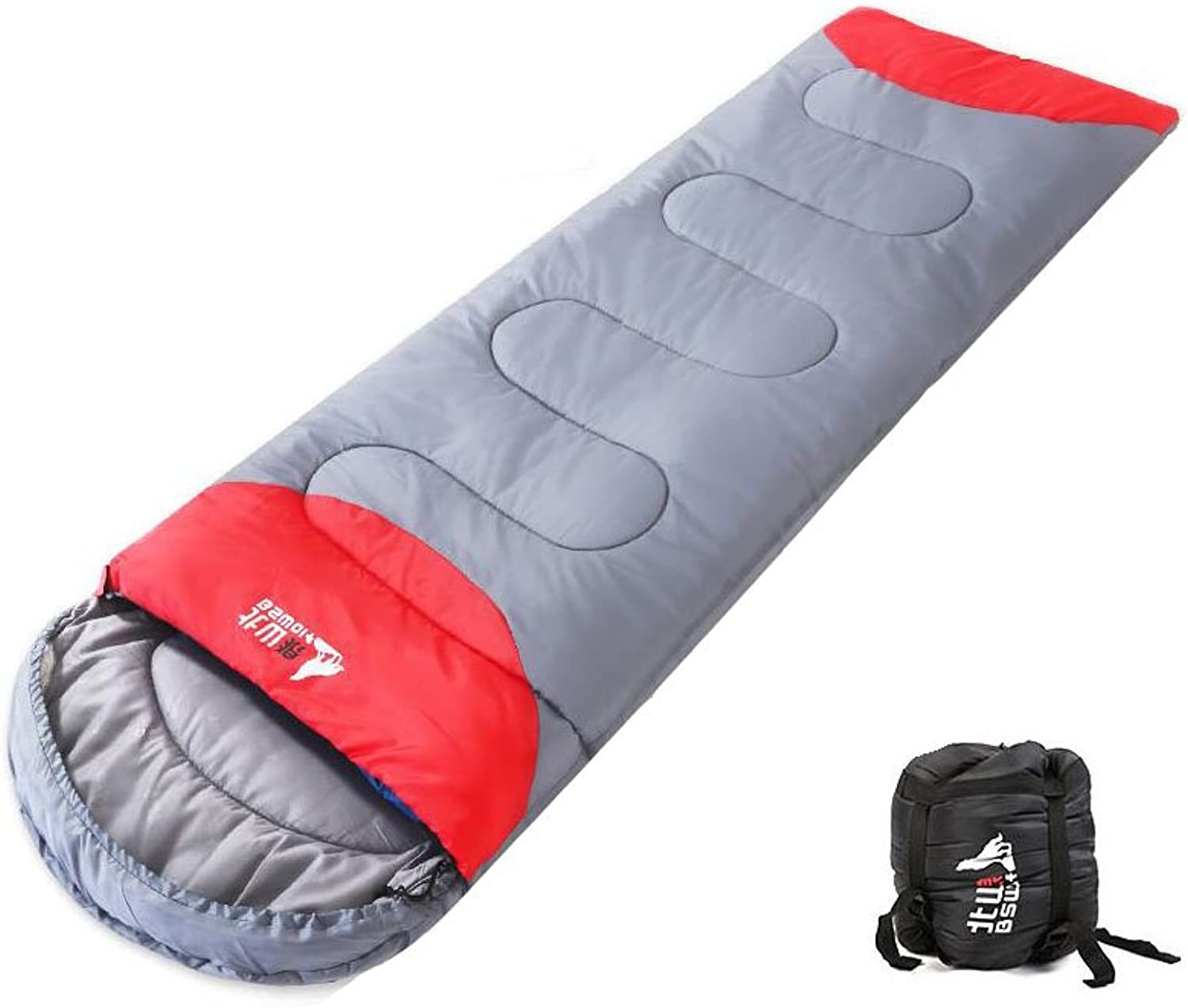 Sleeping Bag – Envelope Lightweight Portable, Waterproof, Comfort with Compression SackGreat for Spring Fall Traveling, Camping, Hiking, Outdoor Activities Adults&Kids