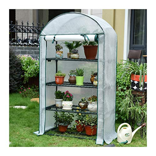 MAHFEI Greenhouses for Outdoors, Easy to Assemble Greenhouse Tent Cover 4-Tier Portable Mini Greenhouse Robust Structure Good Stability for Terrace Plants Insulation and Anti-Frost
