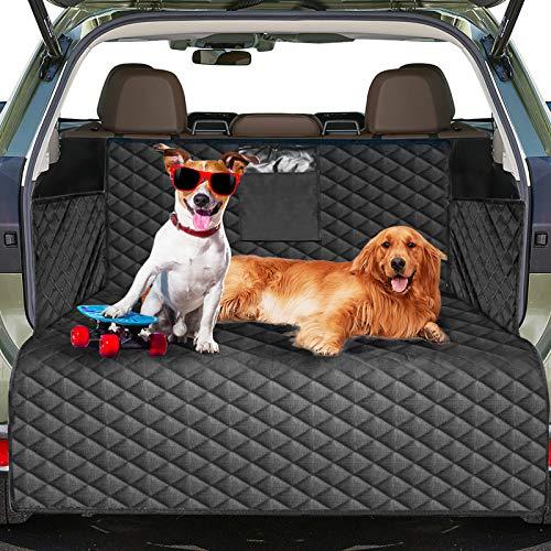 Protecteur de doublure de coffre de voiture de chien, tapis de couverture de siège de chien imperméable avec protecteur de rabat de pare-chocs, housse de siège de chien antidérapante 185 * 105cm