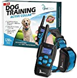 PetTech PT0Z1 Premium Dog Training Shock Collar, Fully Waterproof, 1200ft Range (Blue)