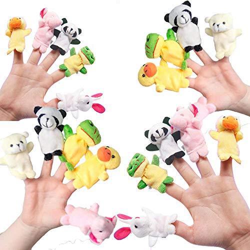 THE TWIDDLERS 20 Marionetas de Dedos - Conjunto de Marionetas de Dedo Animales Adorables | Juguetes de Marionetas para Niños - Rellenos de Bolsas de Fiesta