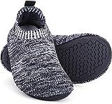 Msrlassn Hausschuhe Kinder Junge mädchen rutschfeste Leichte Pantoffeln für Kleinkinder Hüttenschuhe Slipper Unisex (Grau, Numeric_34)