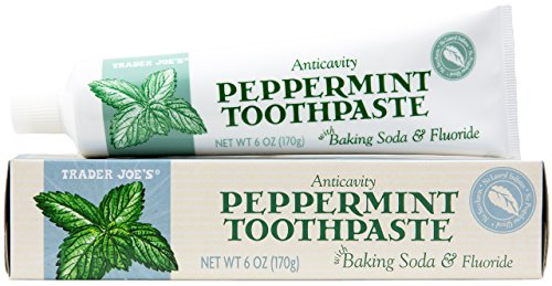 Trader Joe's Anticavity Peppermint Toothpaste with Baking Soda (2-Pack)