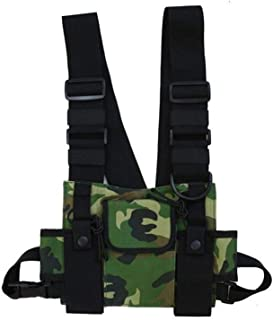 YWSCXMY-AU Fashion Nylon Chest Rig Bag Black Vest Hip Hop Streetwear Functional Tactical Harness Chest Rig Pack Chest Bag (Color : Green)