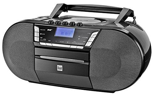 Dual Radio con grabadora Dab-P 200 (CD-Player (MP3), Dab + / FM-Radio, USB-conexión, Conector para Auriculares, AUX-IN) Colour Negro (Importado)