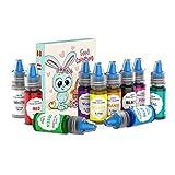 JIM'S STORE Colorante Alimentario 10*6ml, Set de Colorante Alta Concentración Liquid para Colorear los Bebidas Pasteles Galletas Macaron Fondant