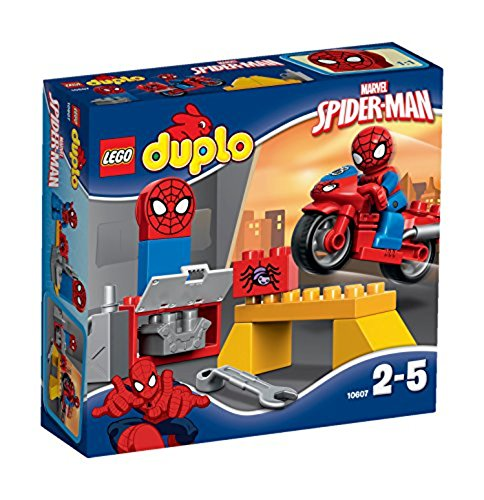 lego duplo uomo ragno LEGO Duplo Super Heroes 10607 Il Laboratorio della Ragno-bici di Spider-Man