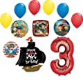Jake and the Neverland Pirates 3rd Birthday Party Supplies Balloon Bouquet Decorations