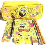 Spongebob Pencil Case and Stationary Set -Gift Set for Boys