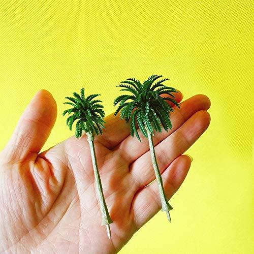 2pcs / lot kunstmatige kokospalmen/Miniaturen/leuke planten/fee tuin/mos terrarium decor/ambachten/bonsai/fles tuin: 2 stuks gemengde degenen