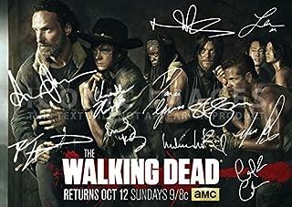 The Walking Dead Season 5 Tv Print Andrew Lincoln Norman Reedus Danai Gurira Steven Yeun Emily Kinney Michael Cudlitz Chad Coleman Chandler Riggs (11.7