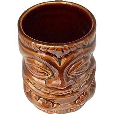 Tiki Coffee Mugs Dark Brown 12 oz.