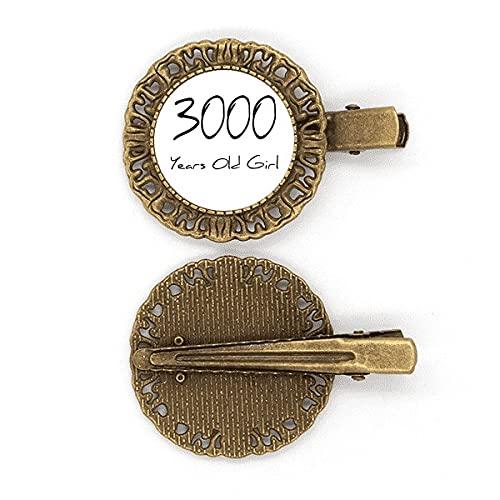 3000 Jahre alt Girl Age Art Deco Geschenkmode Haarnadel Haarschmuck Brosche Haarklammer Barrette