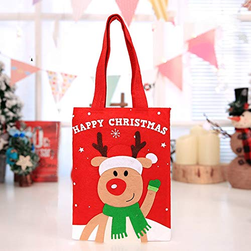 Appearancees Portable Christmas Children's Tote Bags Bag Gift HoldersElk