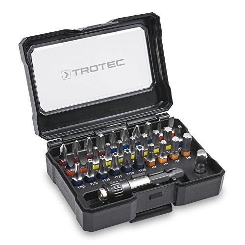 TROTEC Schrauberbit-Set mit Farbcodierung und Universalhalter 32-tlg