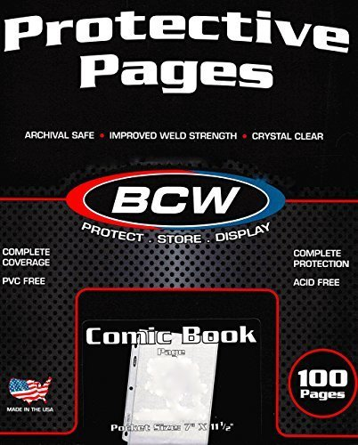 BCW Pro Comic Page Comics, Comic Books Storage Collecting Supplies, 100 Count Box by BCW