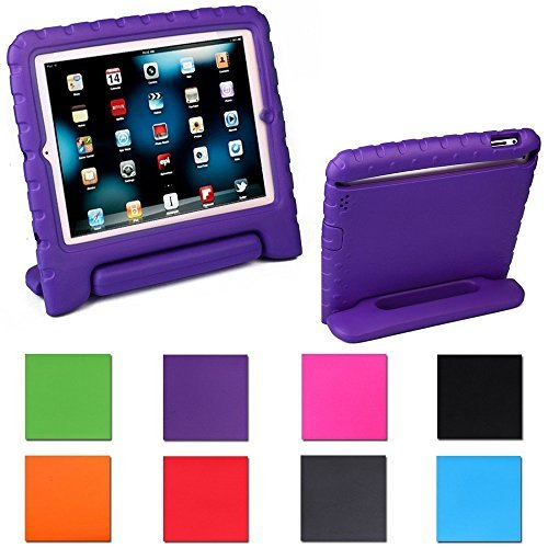 Aken Multi Function Child / Shock Proof Kids Cover Case with Stand / Handle for Apple iPad 2nd / 3rd / 4th Generation Tablet (iPad 2/3/4) (purple)