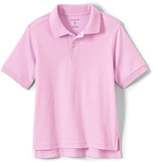 Lands' End School Uniform Little Kids Short Sleeve Interlock Polo Shirt