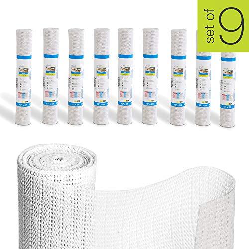 Smart Design Shelf Liner w/Original Grip - (12 Inch x 5 Feet) - Wipes Clean - Cutable Material - Non...