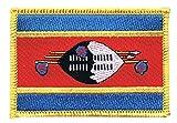 Flaggenfritze Flaggen Aufnäher Swasiland Fahne Patch + gratis Aufkleber