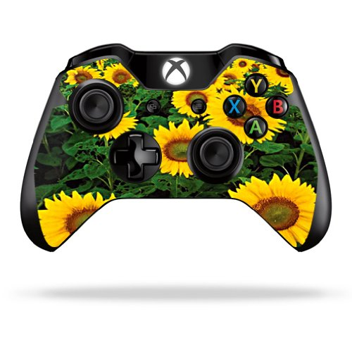 Protective Vinyl Skin Decal Skin Compatible with Microsoft Xbox One/One S Controller wrap Sticker Skins Sunflowers