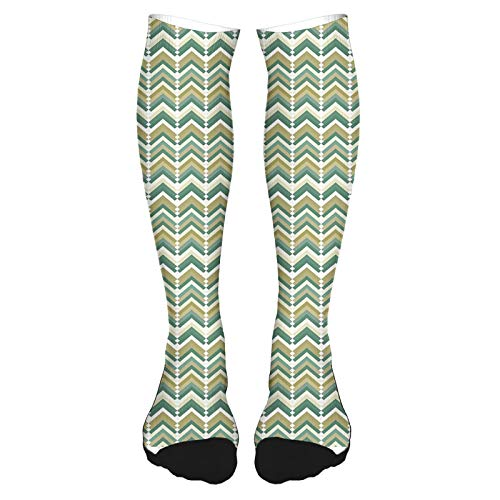 Calcetines altos de algodón sobre la rodilla, diseño de silueta meditadora en colores arcoíris mixtos con diseño de Keep Calm Bohemy, calcetines largos hasta la rodilla para hombre y mujer