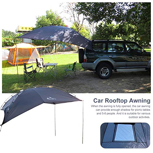 Rvest Dachzelt Dachzelt Autodachzelt,Markise Sun Shelter SUV Zelt Auto Baldachin Tragbare Wohnmobil Anhänger Zelt Dach Auto Markise -für Strand MPV Schrägheck Minivan Limousine Outdoor Camping