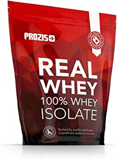 Prozis 100% Real Whey Isolate Protein - Proteína con Sabor a Fresa para Pérdida de Peso, Recuperación Muscular y Culturismo, 1kg, 40 Dosis