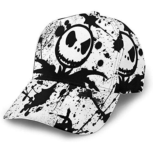 Gorra Strapback Salpicaduras De Tinta Negro Blanco Pesadilla Antes De Navidad Duradero Personalizado Gorra De Béisbol Adulto Papá Sombrero Deportes Acogedor Pesca Trucker Hat Dise