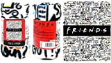 The Northwest Company Friends Fleece Throw Blanket - Friends TV Show How You Doin' & Pivot NYC Fleece Throw Blanket, Soft and Cozy Lightweight Plush Fabric Bed Cover and Room Décor - Size 45'x 60'