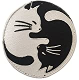 ワッペン屋Dongri 全面刺繍 ベルクロワッペン 霊幻道士 太極図 猫 A0025