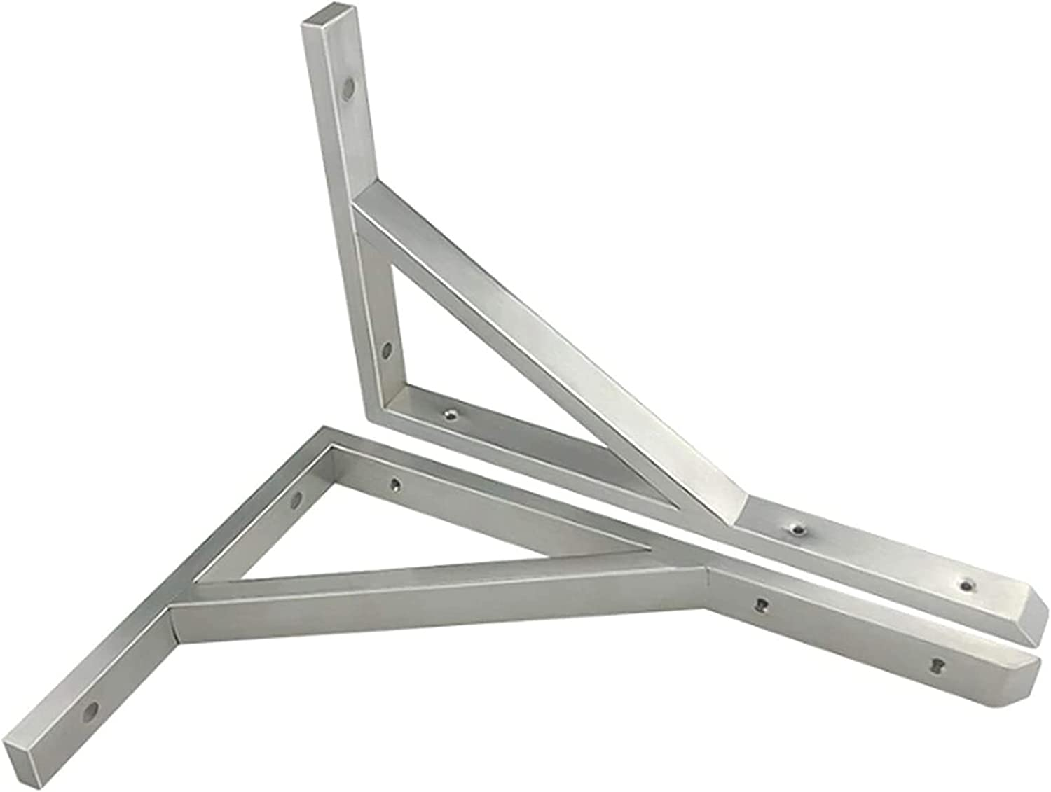 Heavy Duty 70% OFF Outlet Solid wholesale Triangle Shelving Stainless Steel 2 PCS Bracket