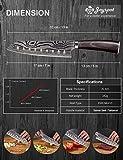 Joyspot Japanisches Santoku Messer, 7 inch Kochmesser Profi Messer Deutsche Karbon-Edelstahlmesser Extra Scharfe Messerklinge mit Ergonomischer Griff, Beste für Home Kitchen … - 2
