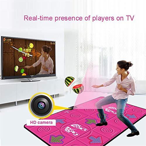 AFAGC Tappetino da Ballo Doppio con Videocamera HD, Computer TV Wireless Addensato Tappetino da Ballo Doppio Gioco Somatosensoriale A Doppio Uso per Fitness Party Home