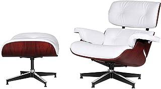 WLGQ Chaise Longue avec, Bois de contreplaqué avec Cuir de Grain supérieur, Support de Base Robuste, Design Classique, rép...