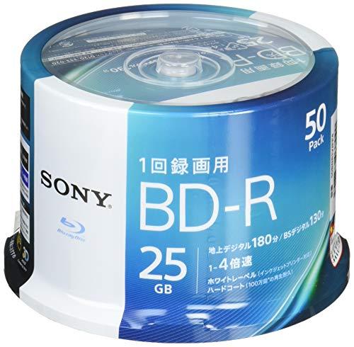 ソニー(ソニー) ビデオ用ブルーレイディスク 50BNR1VJPP4 (BD-R 1層:4倍速 50枚パック)