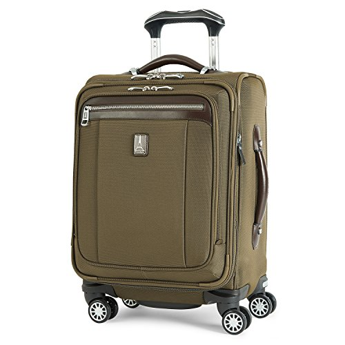 Travelpro Platinum Magna 2-Softside Expandable Spinner Wheel Luggage, Olive, Carry-On 19-Inch