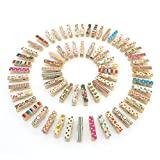Z ZICOME Mini Wooden Clothespins Photo Paper Peg Craft Clips, 100 Pack
