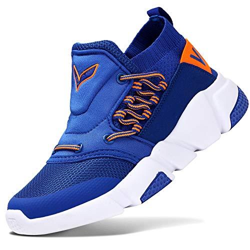 Sneakers Bambini Ragazzi Scarpe da Corsa Ragazze Trainer Ragazzi Scarpe Sportive Scarpe da Ginnastica all'aperto Scarpe da Interno Unisex, 6 Blu, 37 EU